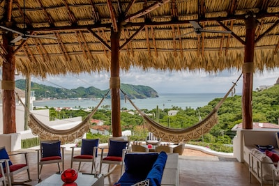 Beautiful view. Nicaraguan Hammocks for a lazy afternoon.