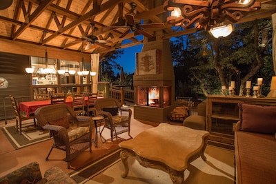 Dancing Bear Lodge-Outdoor patio, be sure to checkout our video walk through