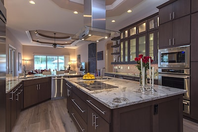 Granite and custom cabinets