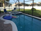 Great pool / spa and extra large fenced rear yard!