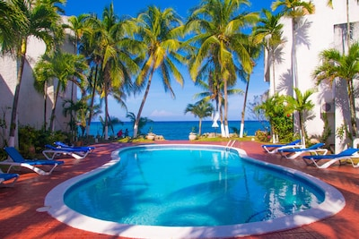 Our wonderful pool and beach