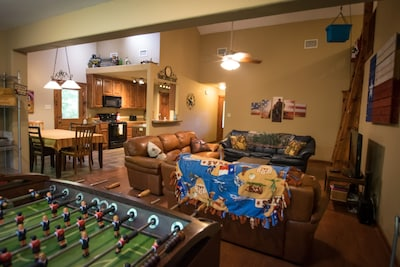 Large open layout in the living areas