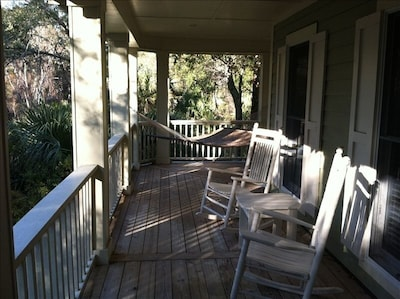 Relax in our front porch rockers or have an afternoon nap in the hammock.