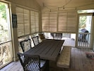 Large screened porch for bug free dining.