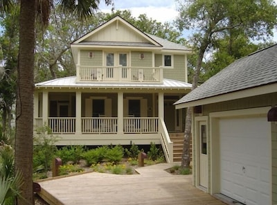 Nestled in the forest in the center of the Island- just minutes from the beach.