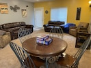 Game table, movie room, & plenty of seating.