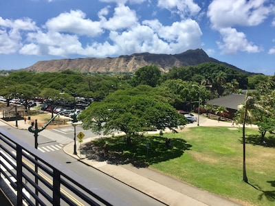 View of Diamond Head from your private balcony