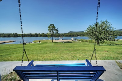 best porch swing view you can ask for
