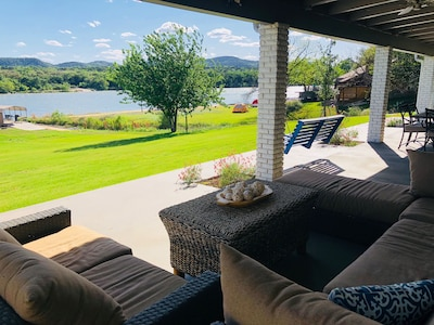 Best porch on lake LBJ with incredible views of packsaddle mountain.