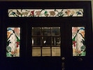 Front entry, custom stained glass