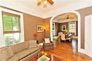 Open floor plan between living room and dining room...entertainer's dream!