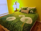 """Bedroom Three features a comfy new queen bed, and 46"""" TV & smart Blu-ray player."""
