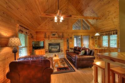 Welcome Home to rustic comfortable Mooseberry Ridge !!