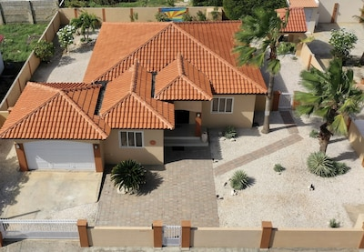Aerial view of villa