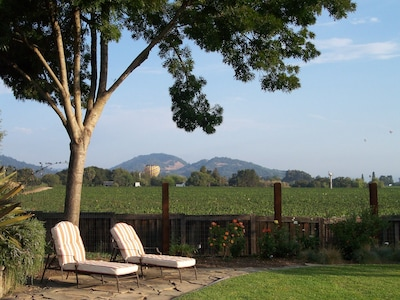 Back Yard Garden with Views of Vineyards