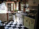 True Cottage Kitchen w/Antique 'Chambers' Stove.