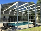 Enjoy sitting out by the pool - full sun from 10am to 4pm