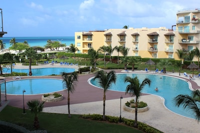 View of three of the four Oceania resort pools available to our guests