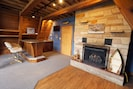 Wet bar and gas fireplace