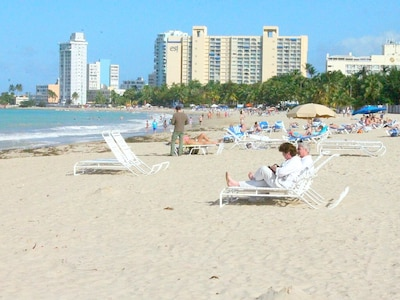 Beach in front of the condo!! Near Intercontinental Hotel and El San Juan Hotel!