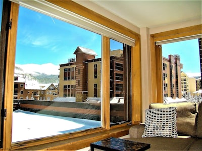 View of Mt Baldy from this beautiful upgraded corner condo.