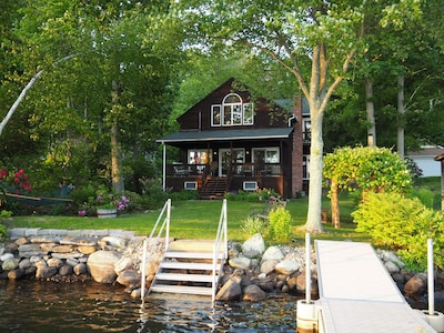 Level back yard with private water frontage and access.