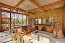 Enjoy the large outdoor screened living area