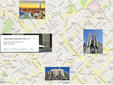 The apartment is perfectly located in the middle of famous Gaudi's triangle!