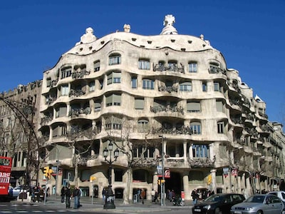 La Pedrera, by genius Antoni Gaudi, is at walking distance from our apartment.