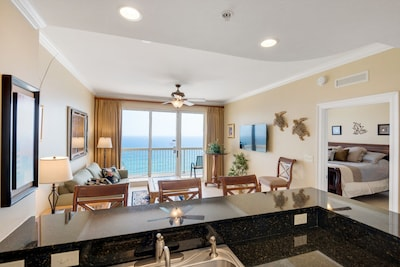 Beachfront Ocean view from Kitchen, Great Room and Master Suite.