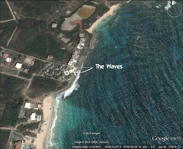 Google Earth View of The Waves