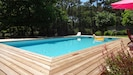 Piscine 10x5 m orientée sud Pool 10x5 meters facing south