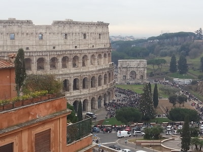 Place de Sainte-Marie-Majeure, Rome, Latium, Italie