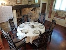 Inside Dining Room and Woodburner