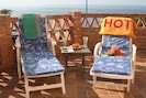 the 2 sided terrace offers a place to relax and enjoy the views and the sun