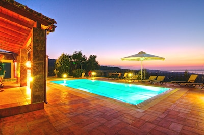 The big asset of the villa is its large pool deck with the breathtaking sunsets!