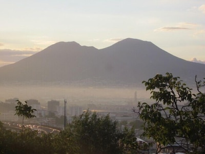 view of Vesuvius from terrace
