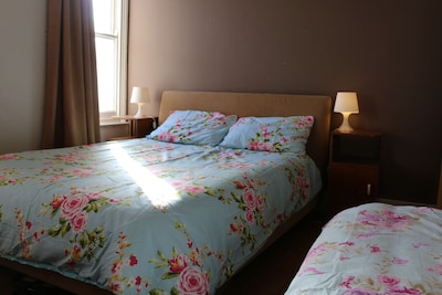 Master Bedroom King size Bed + Single bed + room for fold out single bed