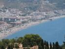 Uitzicht op het strand vanaf La Herradura