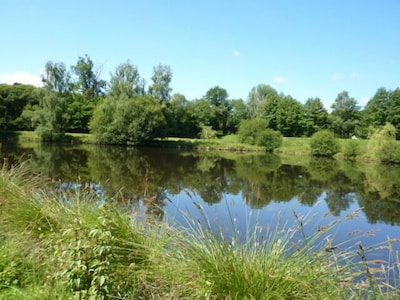 The private 2 acre Lake