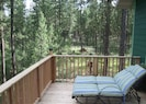 Back deck affords spectacular views.