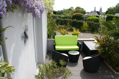 Terrace, quickly discover, inside and the garden