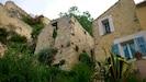 Les ruines du château vues depuis le jardin