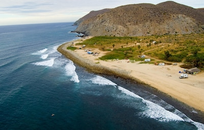 Pescadero Palace sets in front of one of the best surf breaks in Baja California