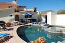 Heated swimming pool and infinity edge Jacuzzi!