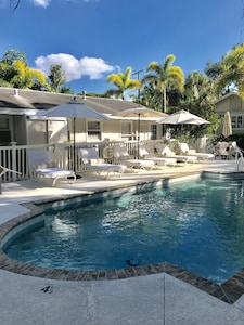 Beautiful heated pool and spa