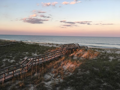 The beach is only steps away! Come dip your toes in our piece of the Atlantic!