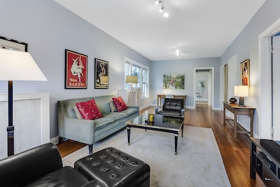 Expansive Living Room and Office Area.