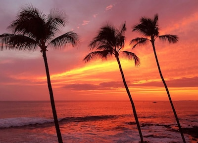 Stunning sunsets right from the lanai.