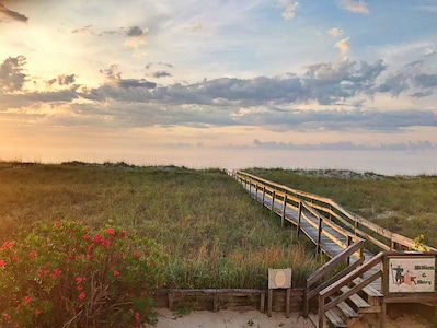 Enjoy the famous Carolina Beach sunrises right from the oceanfront deck!